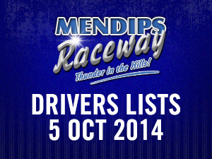 Drivers Lists: 5th October